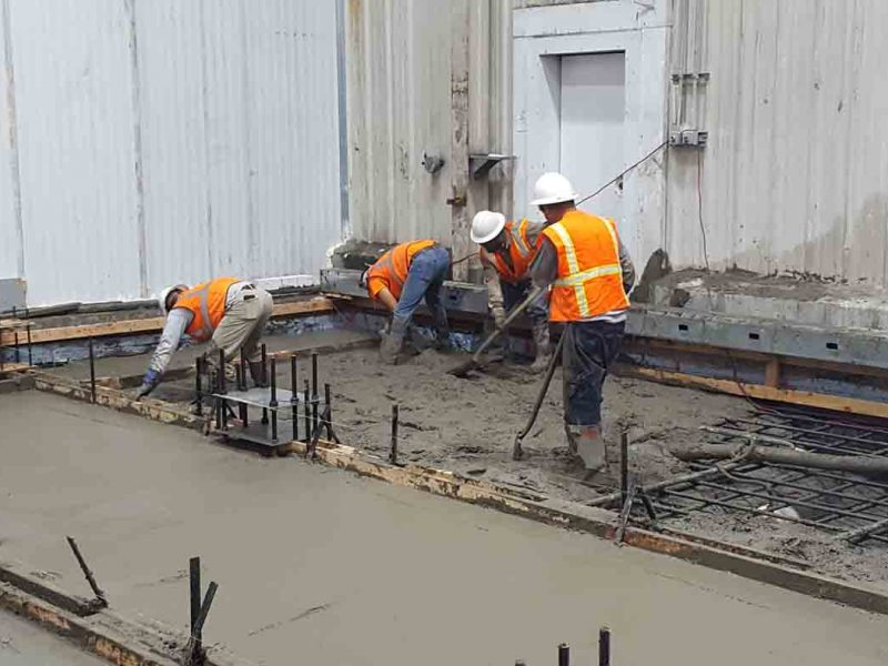 Construction slab work